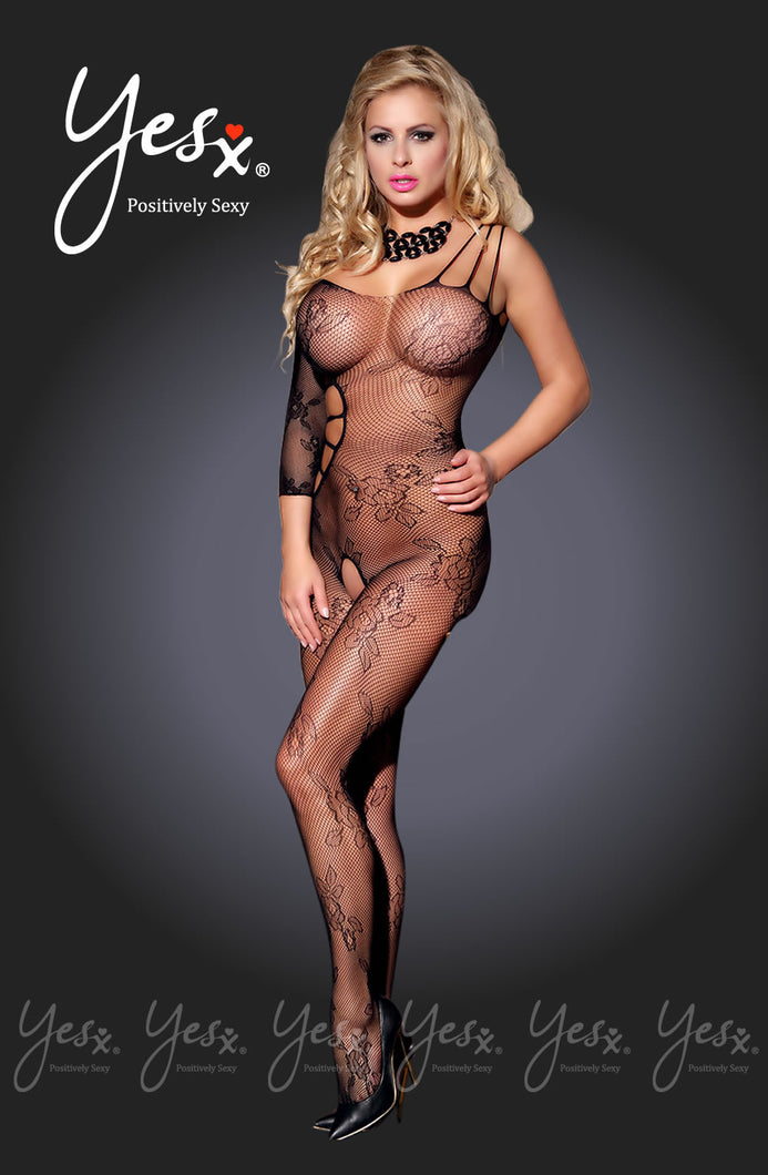 Yesx YX939 Bodystocking Black