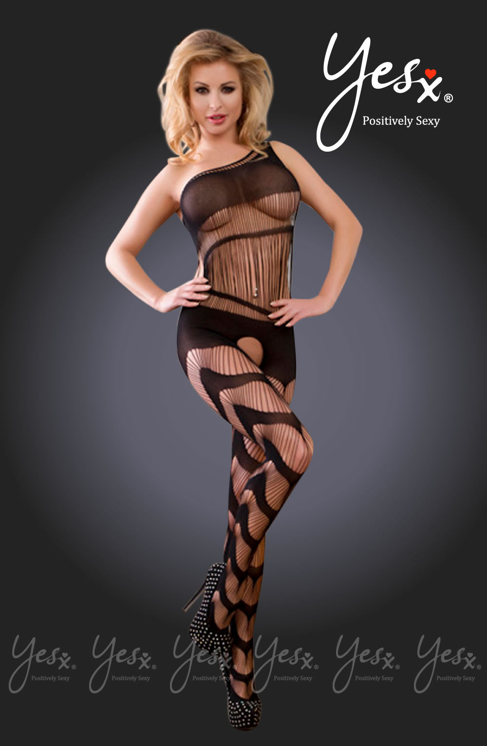 Yesx YX940 Bodystocking Black