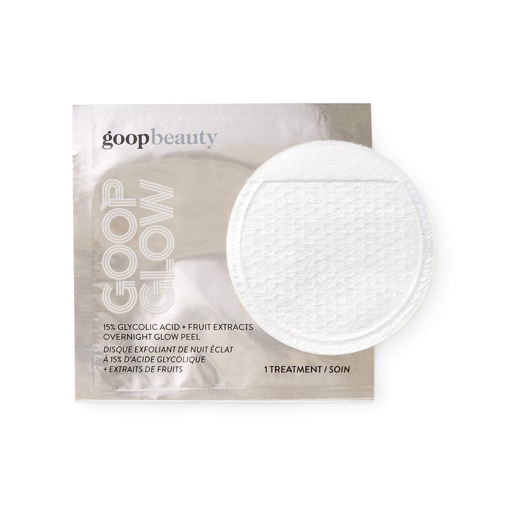 GOOPGLOW 15% Glycolic Overnight Glow Peel - 4 Pack