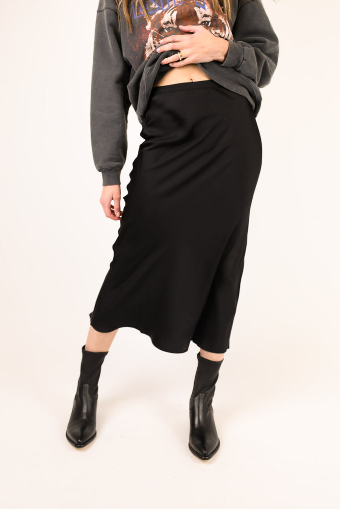 Bar Silk Skirt