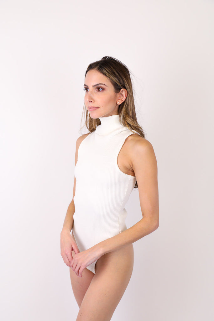 Debi Sleeveless Rib Bodysuit