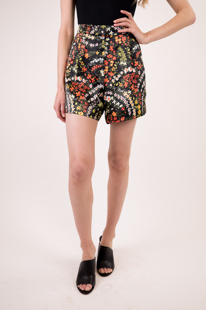 Satin Floral Printed Shorts