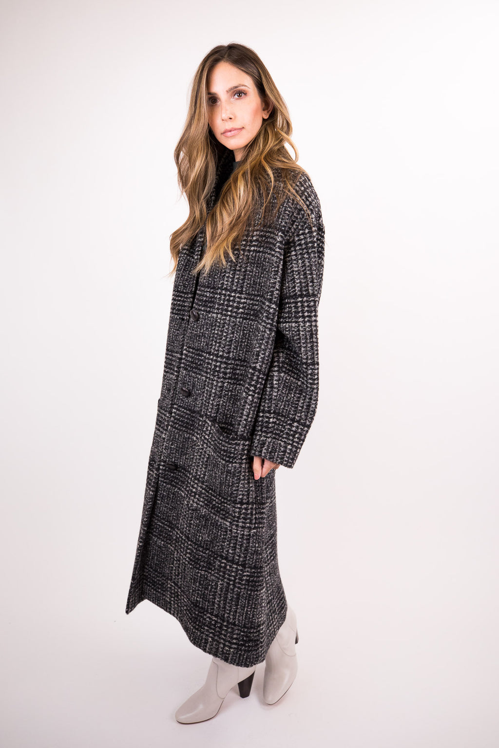 Elayo Long Plaid Jacket