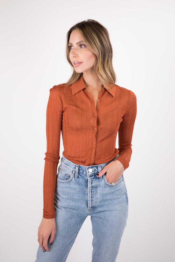 Pacey Button Down Top