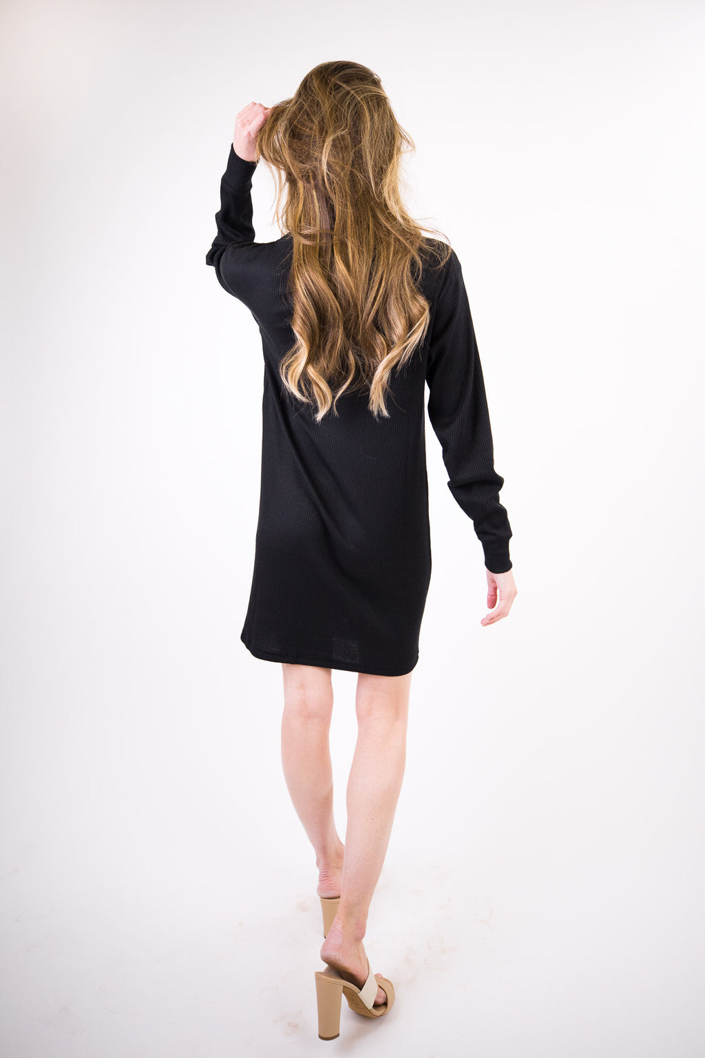 The Knit Rib Mini Dress