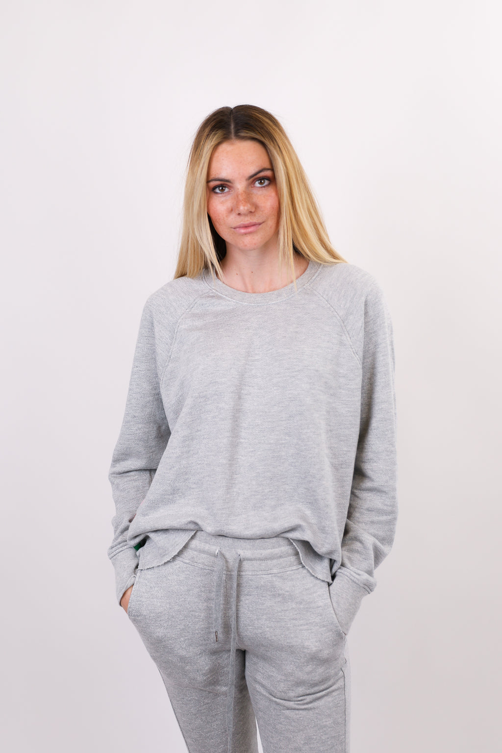 Cut Off Pullover with Inset Stripes