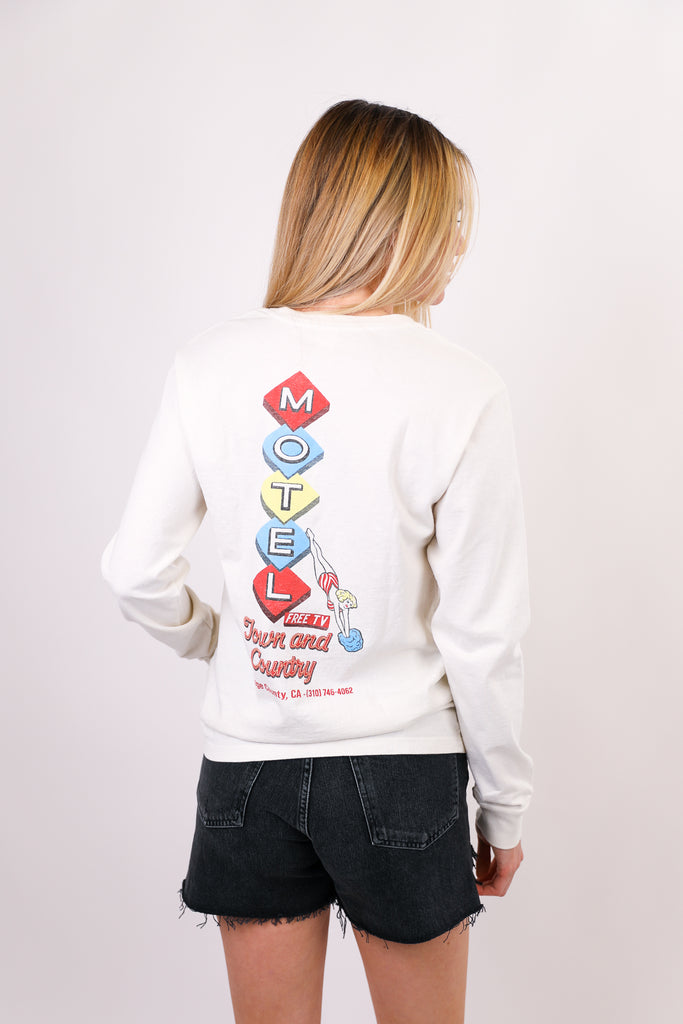 90s Long Sleeve Motel Tee