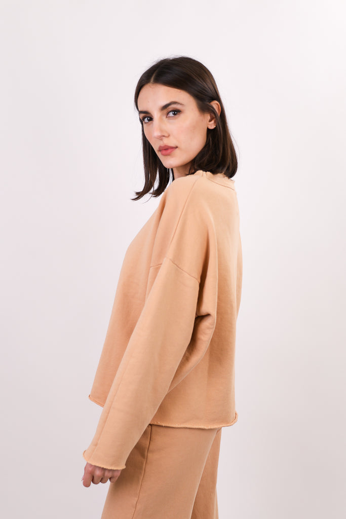 Reine Boxy Drop Shoulder Crew