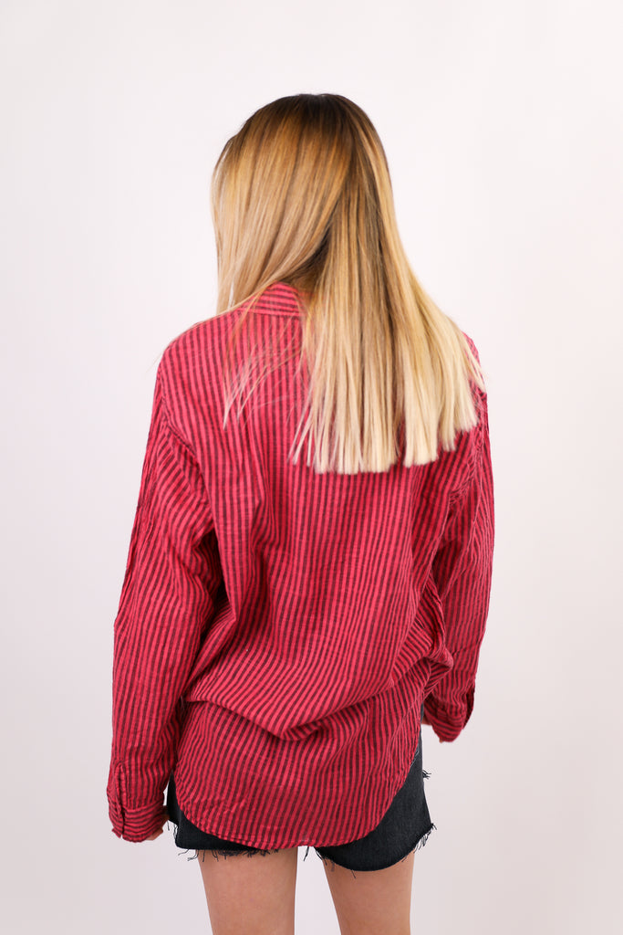 Stripe Oversized Shirt