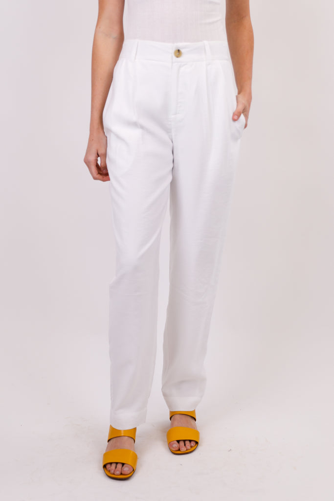 Tapered Pleat Front Trouser