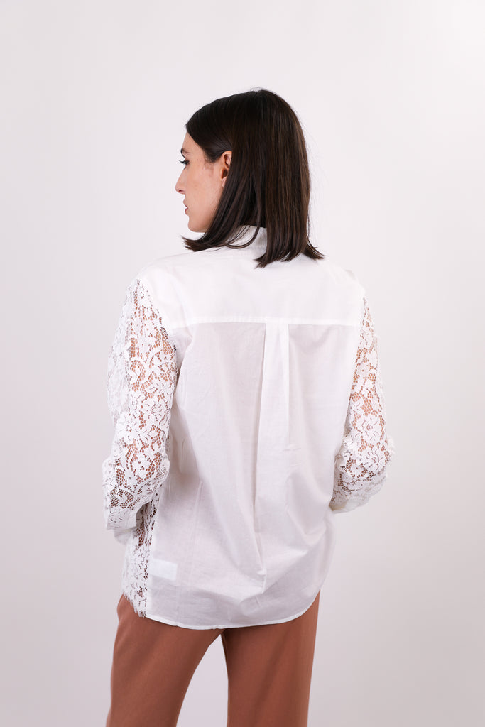 Cotton Lace Straight Shirt