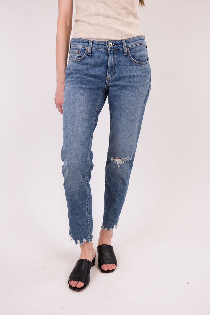 Dre Low-Rise Slim Boyfriend Jean