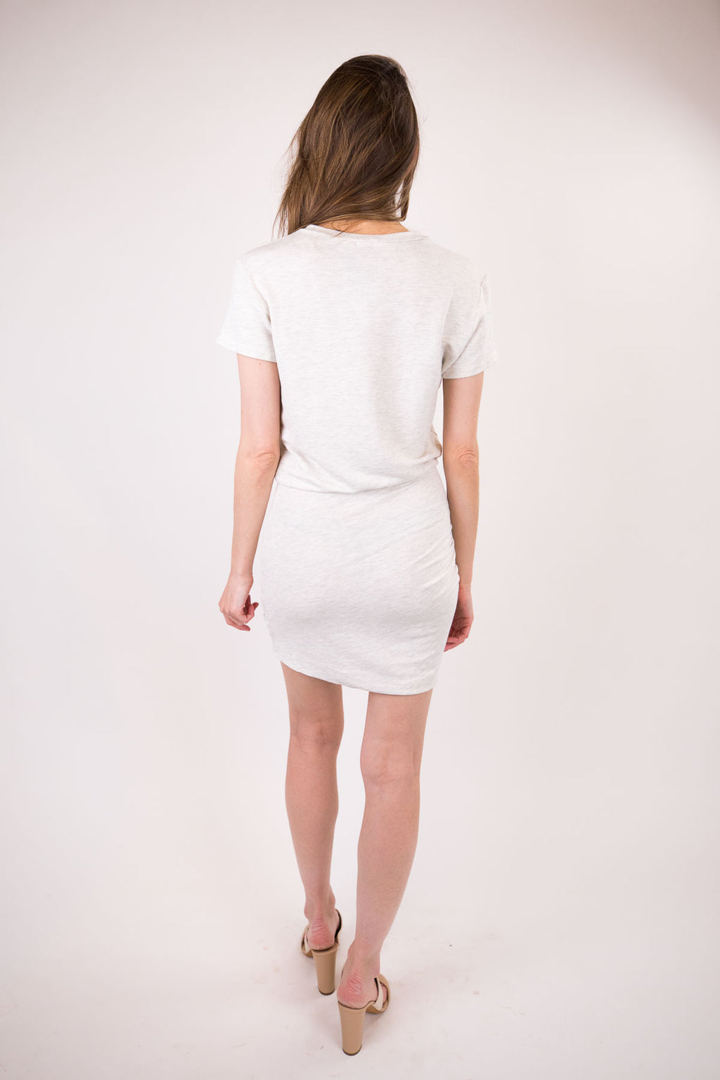 Supersoft Short Sleeve V-Neck Dress with Tie