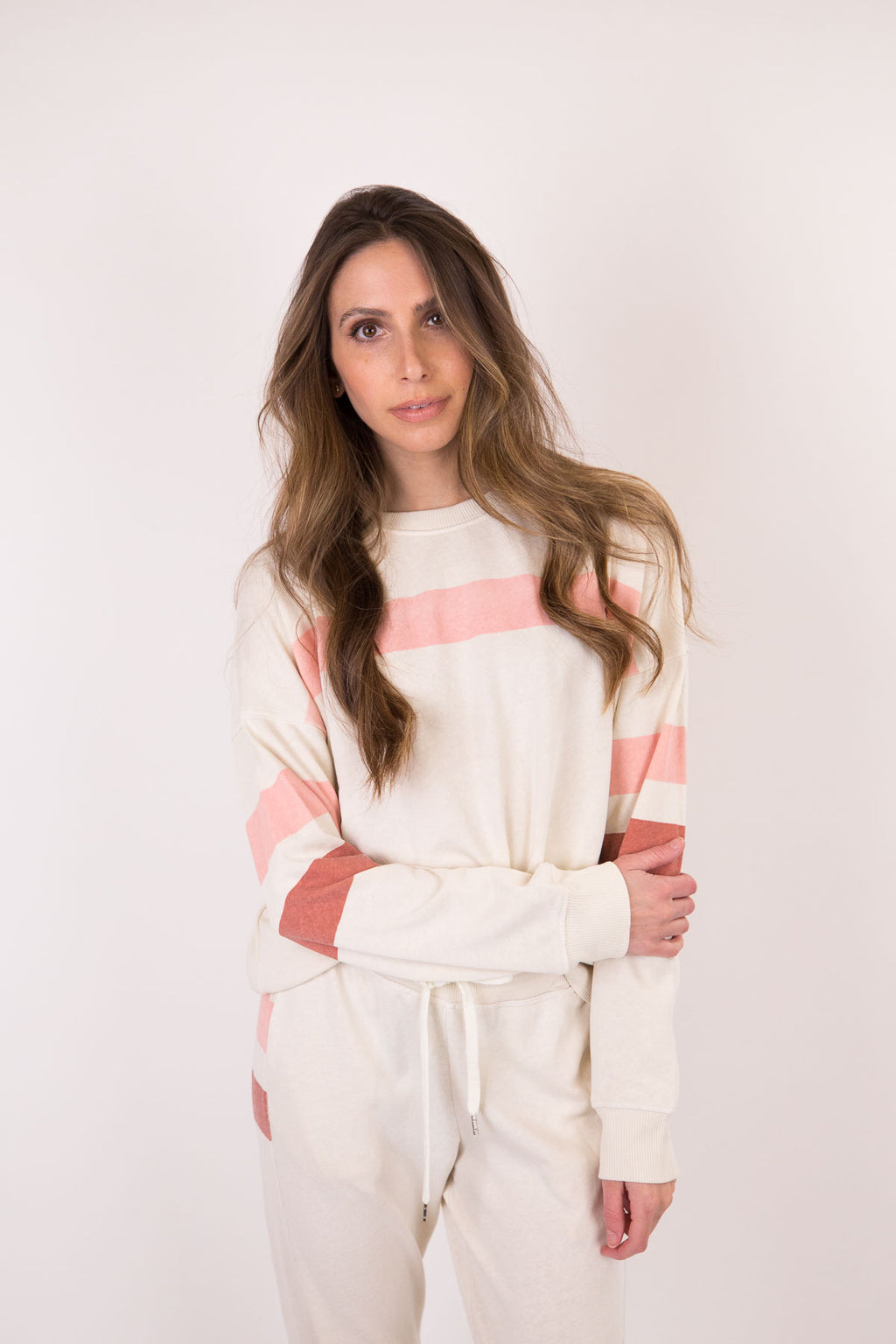 Bold Stripes Oversized Sweatshirt