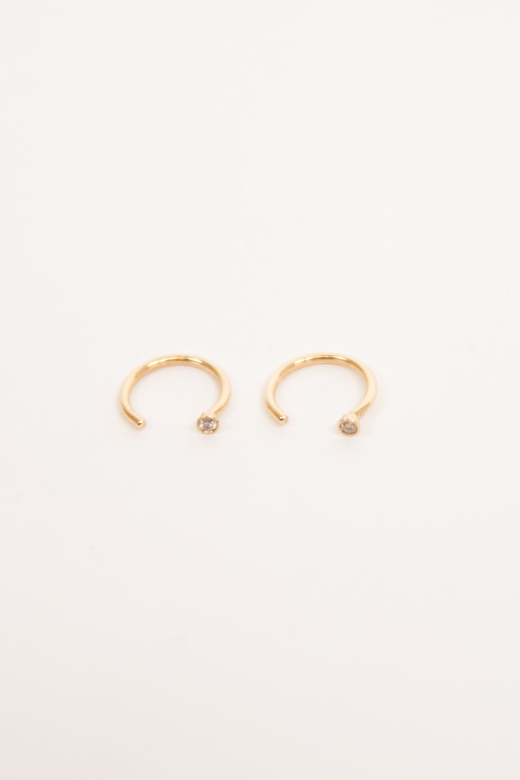 Mini Diamond Dust Hoops