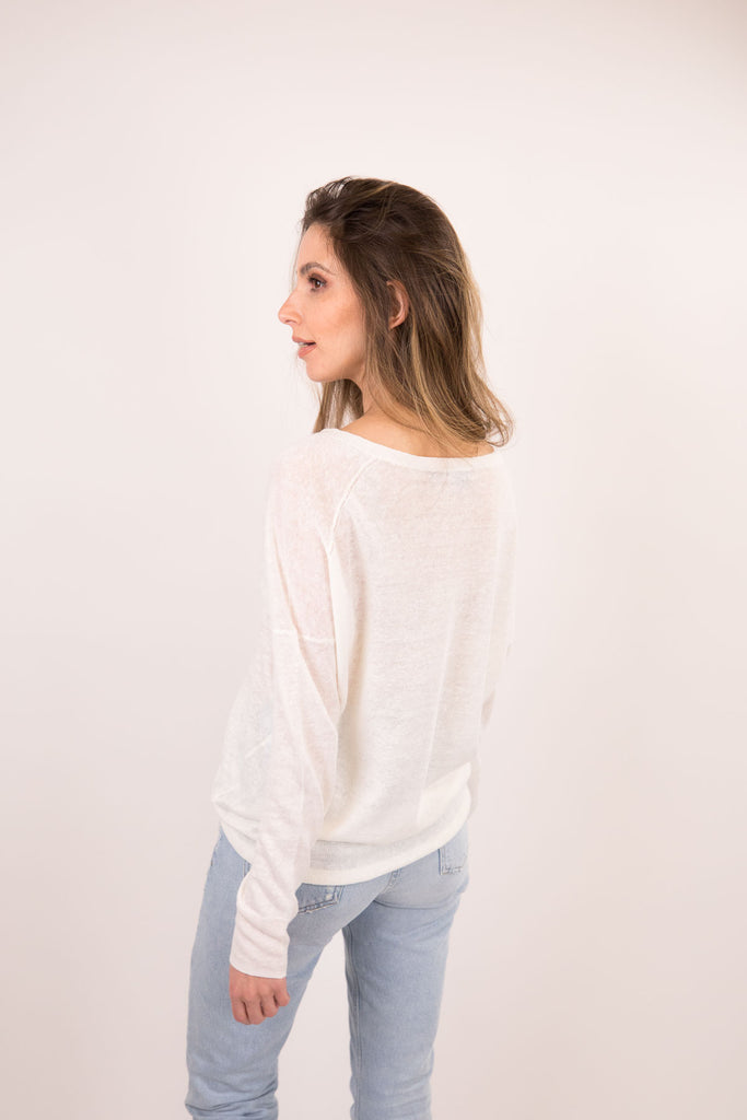 Misha V-Neck Long Sleeve Tee