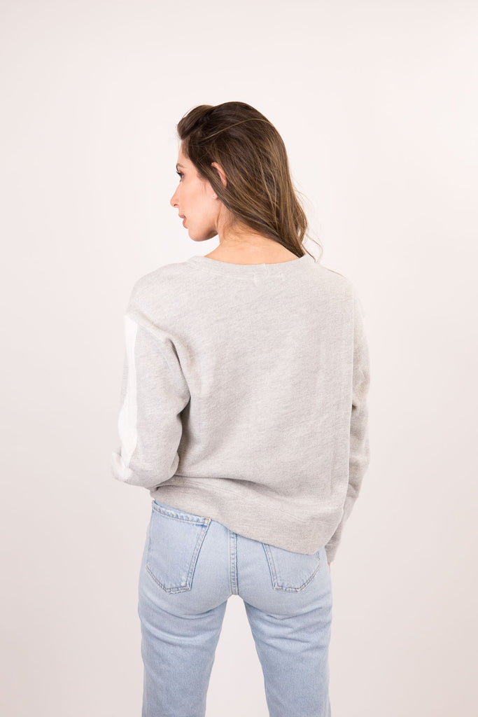 Relaxed Sweatshirt with Reversed Side