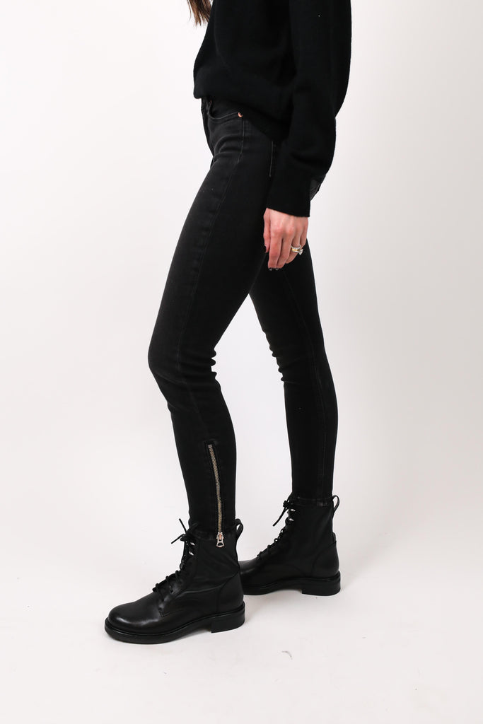 Cate Mid-Rise Ankle Skinny with Zips