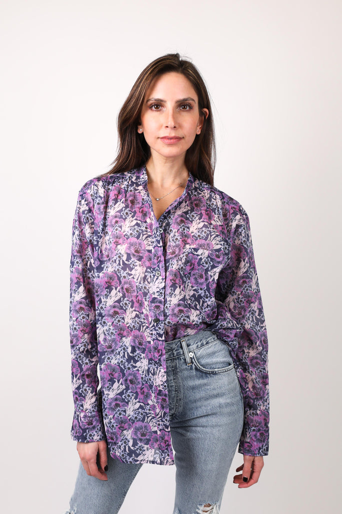 Mexika Floral Button-Down Top