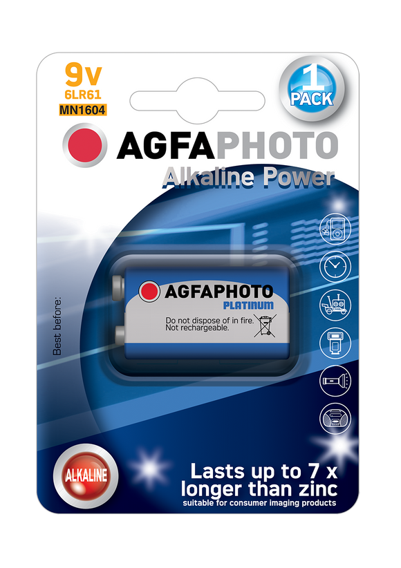 Μπαταρία Agfa Photo HQ Alkaline 9V ( 6LR61 )