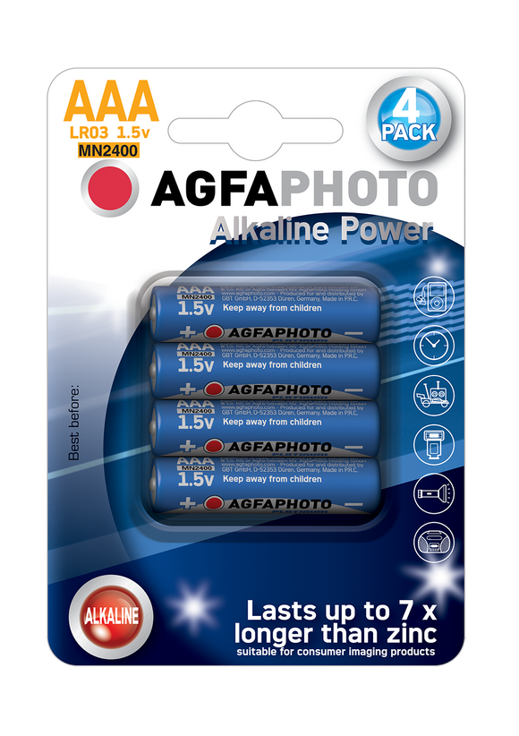 Μπαταρία Agfa Photo HQ Alkaline AAA ( LR03 ) 4τμχ