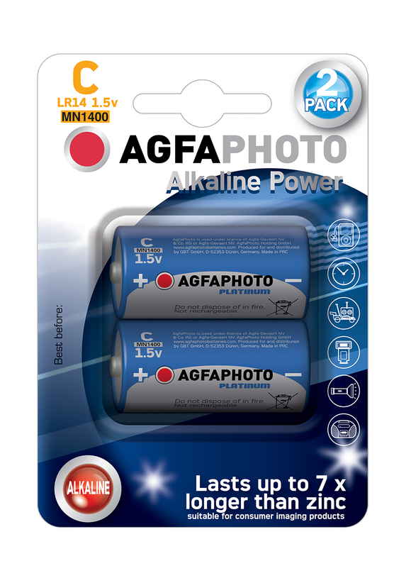 Μπαταρία Agfa Photo HQ Alkaline C ( LR14 ) 2τμχ