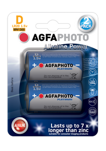 Μπαταρία Agfa Photo HQ Alkaline D ( LR20 ) 2τμχ