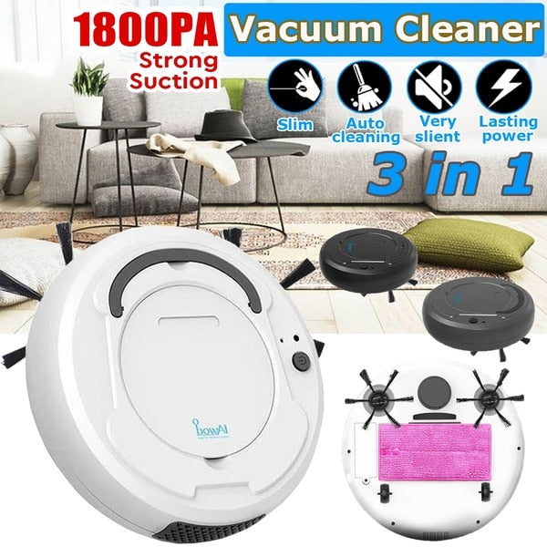 HOT ITEM! 3-In-1  Smart Rechargeable, Dry, Wet Sweeping Robot Vacuum Cleaner.
