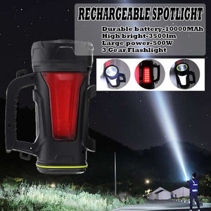 200/300/500W USB Charging, LED Work Light for Camping, Hiking, Hunting.