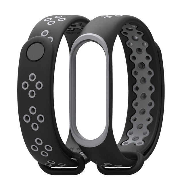 Sport Mi Band 3 Silicone Bracelet, for xiaomi Mi band 3 band3 smart watch.