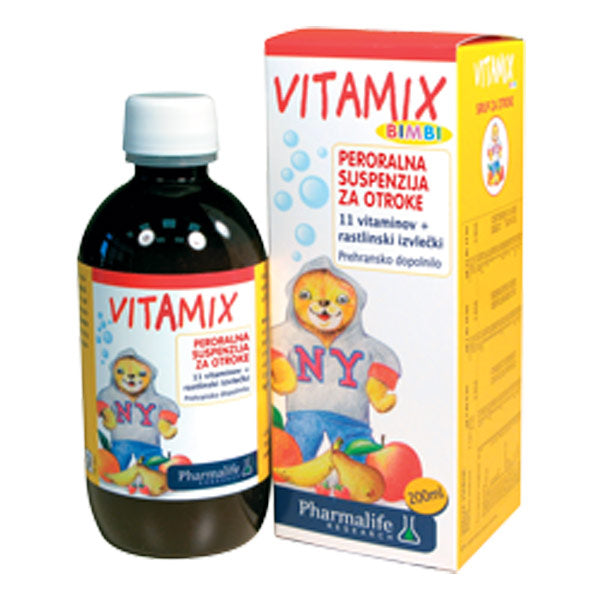 Fitobimbi vitamix sirup 200ml vitamini za rast in razvoj