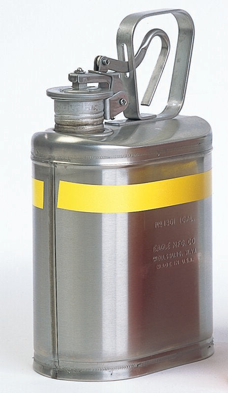 LABORATORY SAFETY CANS LAB CANS Stainless Steel 1 gal Stainless Steel