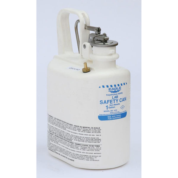 Lab Cans- 1 Gal. Polyethylene - White - Safety Cans