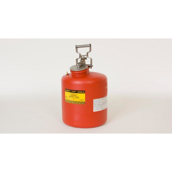 Disposal Cans - 5 Gal. Polyethylene - Red - Safety Cans