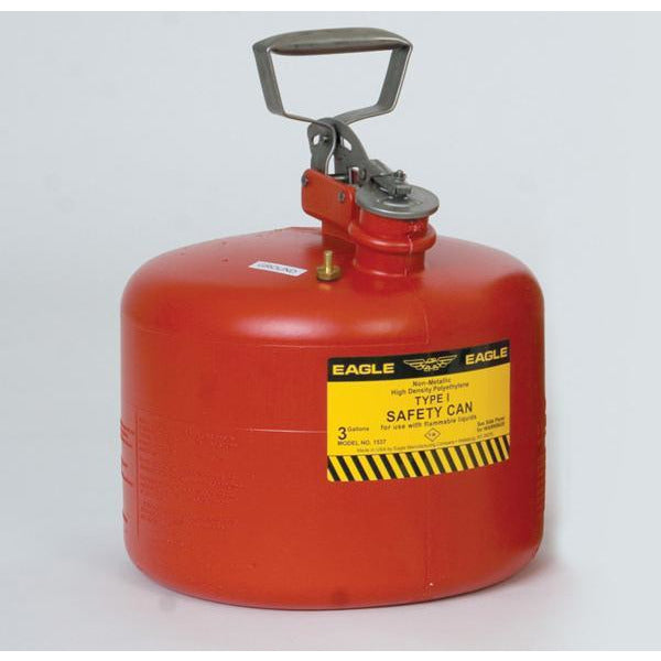 Type I Safety Cans - 3 Gal. Polyethylene - Red - Safety Cans