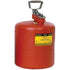 Type I Safety Cans - 5 Gal. Polyethylene - Red - Safety Cans