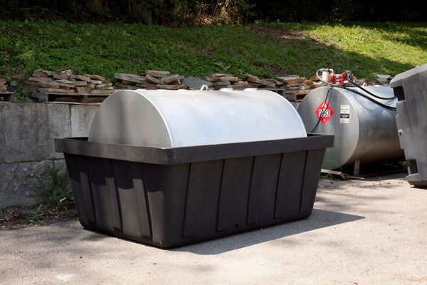 635 Gal Black 550 Gal Tank Spill Containment Unit w/ Drain Black Model # 16-550D - Tank Spill Control Tubs