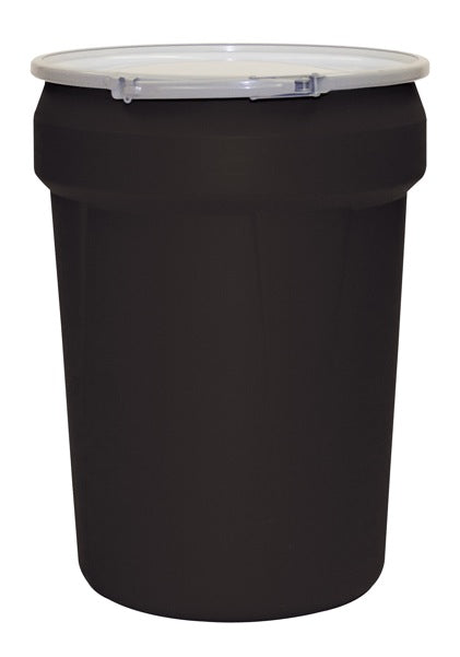 30 Gal. (Black) Lab Pack, Metal Lever-Lock Ring, Bung Lid, 1601MBK-BG2