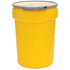 (1 Pallet - qty: 40) 30 Gal. (Yellow) Lab Pack, Metal Lever-Lock Ring, Plain Lid, 1601M