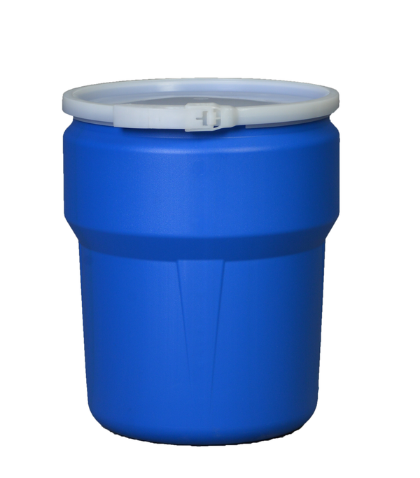 (1 Pallet - qty: 81) 10 Gal. (Blue) Lab Pack, Plastic Lever-Lock Ring, Plain Lid, 1609B
