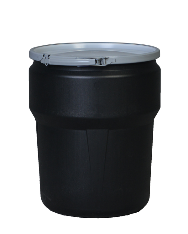 (1 Pallet - qty: 81) 10 Gal. (Black) Lab Pack, Metal Lever-Lock Ring, Plain Lid, 1609MBLK