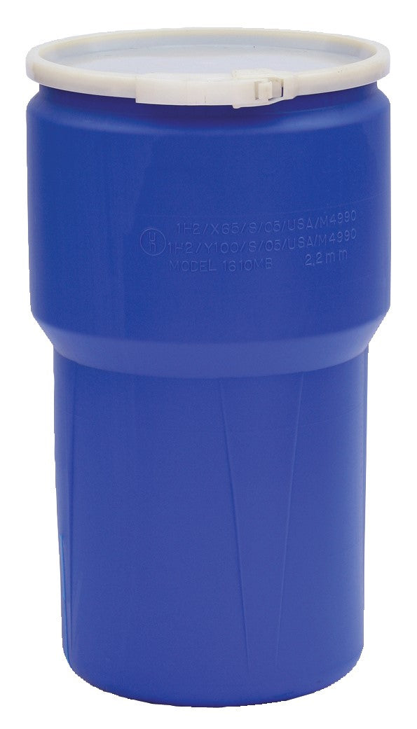 (1 Pallet - qty: 54) 14 Gal. (Blue) Lab Pack, Plastic Lever-Lock Ring, Plain Lid, 1610B
