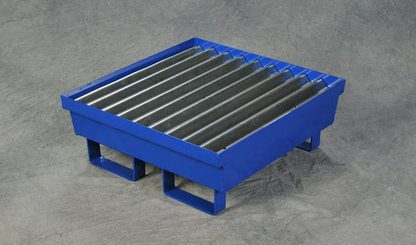 One Drum Steel Containment Pallet Blue Model # 1611ST - Steel Spill Platforms & Pallets