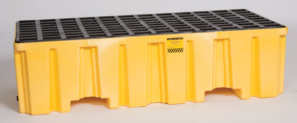2 Drum Yellow Containment Pallet - No Drain Yellow Model # 1620ND - Spill Platforms & Pallets