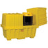 2 Drum Work Station Low With Cover - Yellow -  Poly Ramp