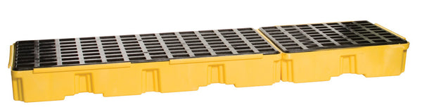 3 Drum Yellow In-Line Modular Platform Unit - No Drain Yellow Model # 16323 - Spill Platforms & Pallets