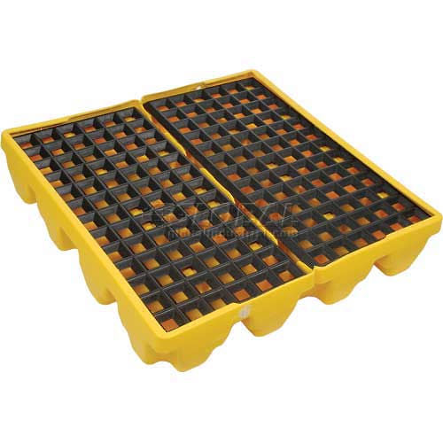 4 Drum Pallet (Tub Only) - Yellow - Drum Accessories