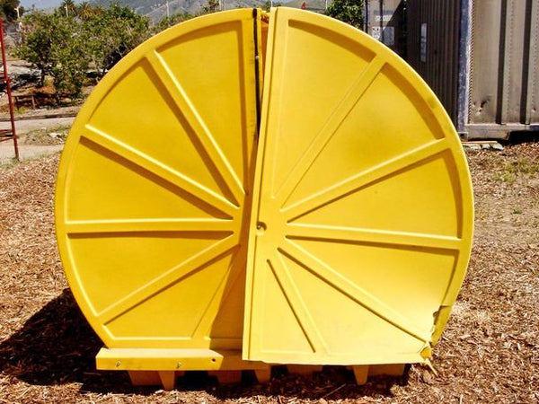 Drum Accessories, 4 Drum Rotary-Top Containment Unit - Yellow