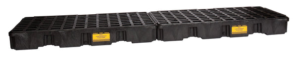 4 Drum Black InLine Containment Platform w/ Drain Black Model # 1647BD - Spill Platforms & Pallets