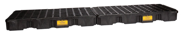 S4 Drum Black InLine Containment Platform - No Drain Black Model # 1647B - Spill Platforms & Pallets